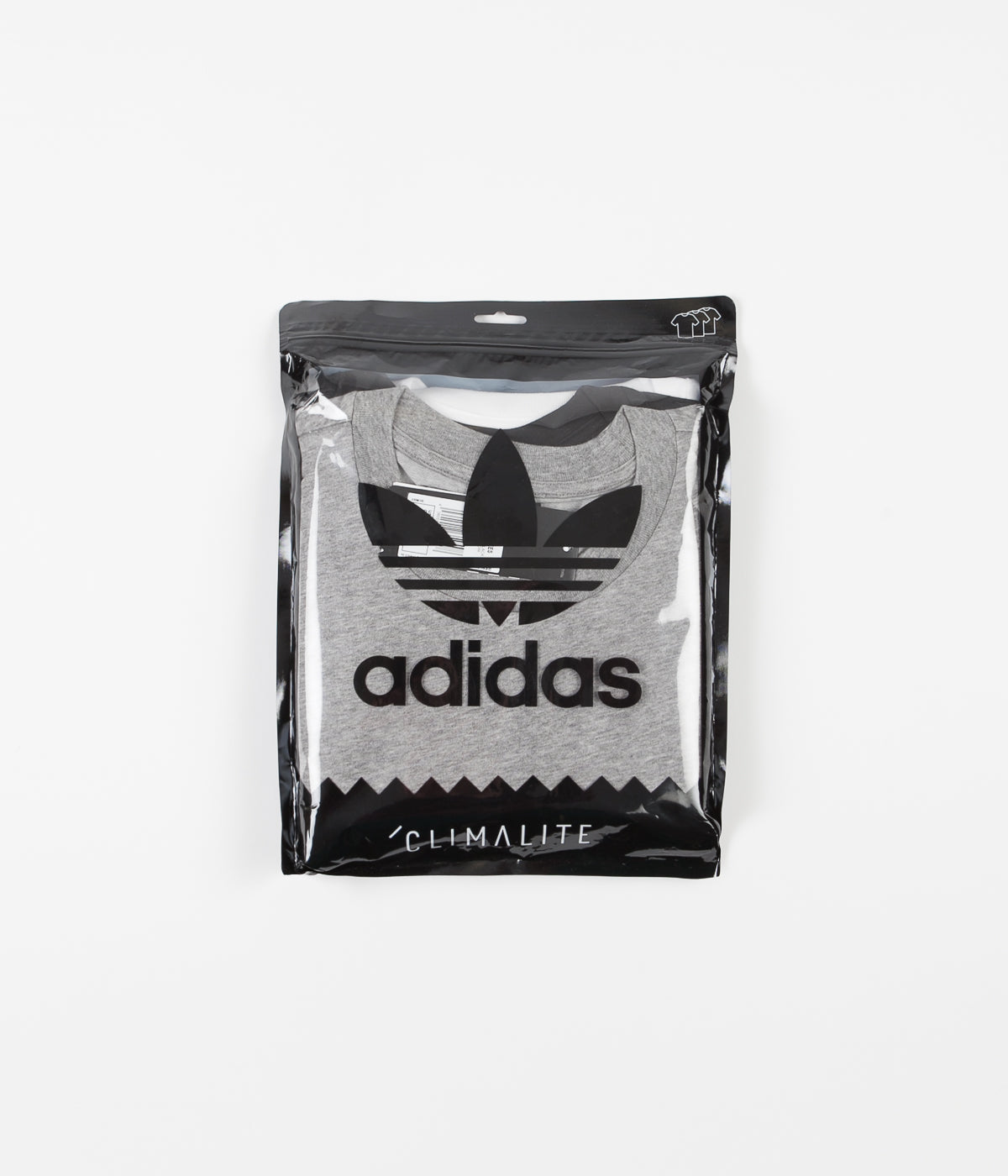 Adidas New 3 Pack T-Shirts - Core Heather / White / Black