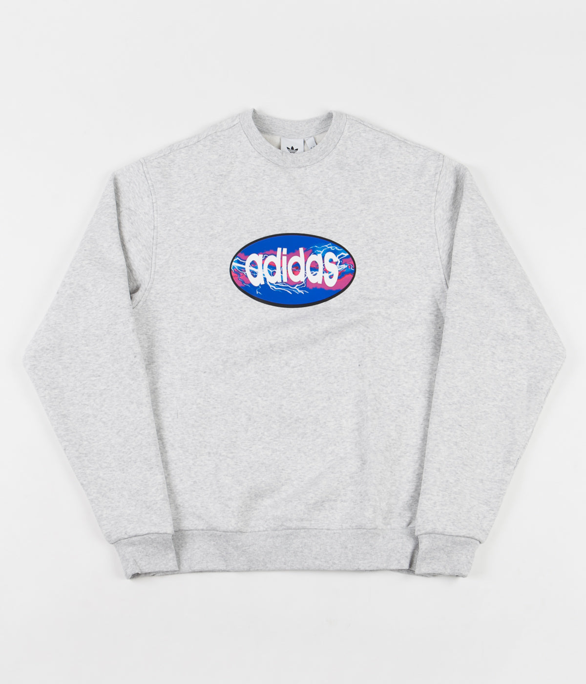 Adidas Oval Sweatshirt - Light Grey Heather