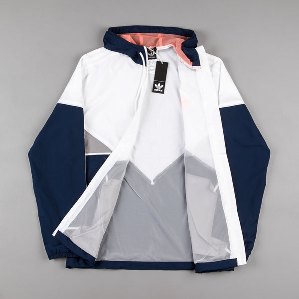 Adidas Premiere Windbreaker Jacket Navy White Sun