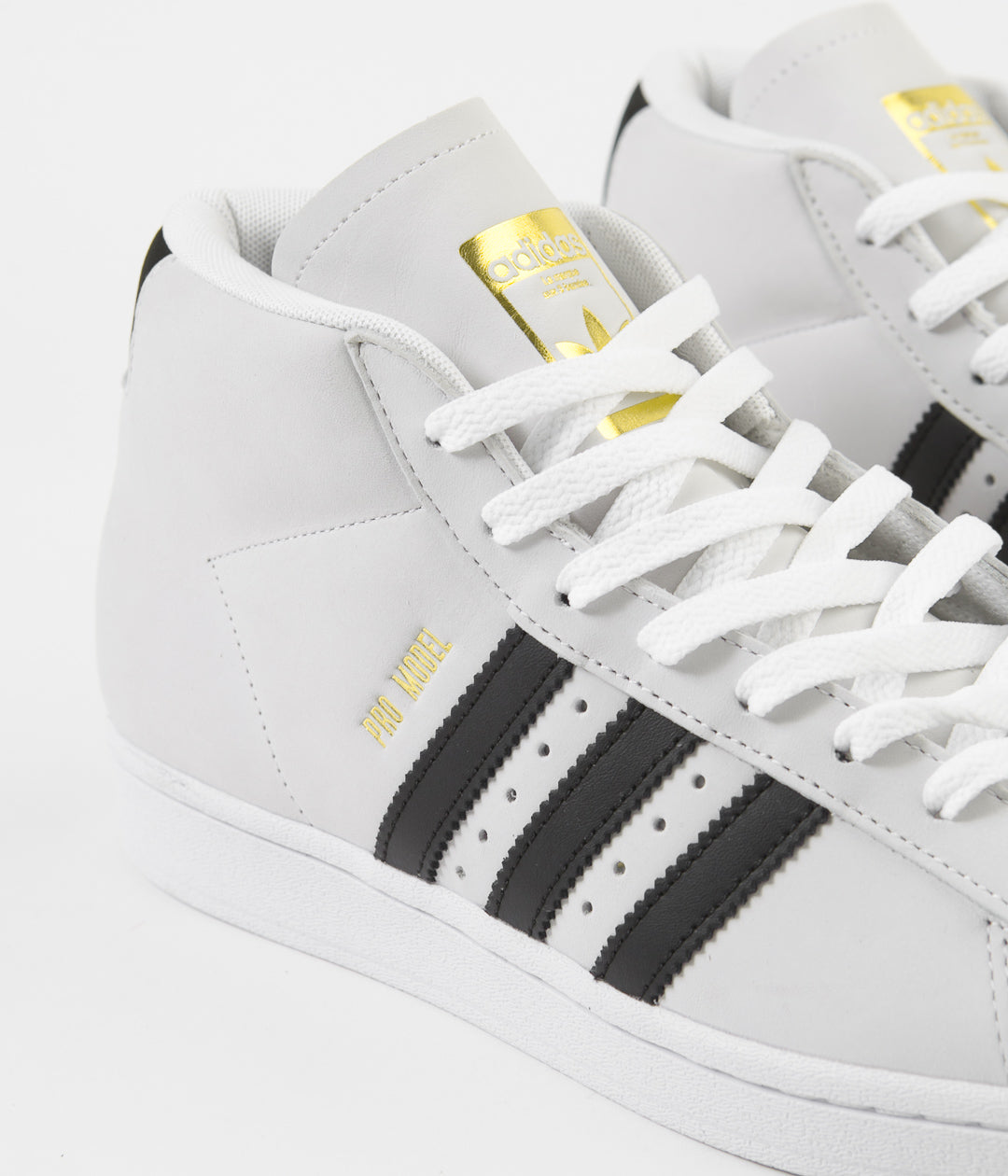 Adidas Pro Model Shoes - White / Core Black / Gold Metallic