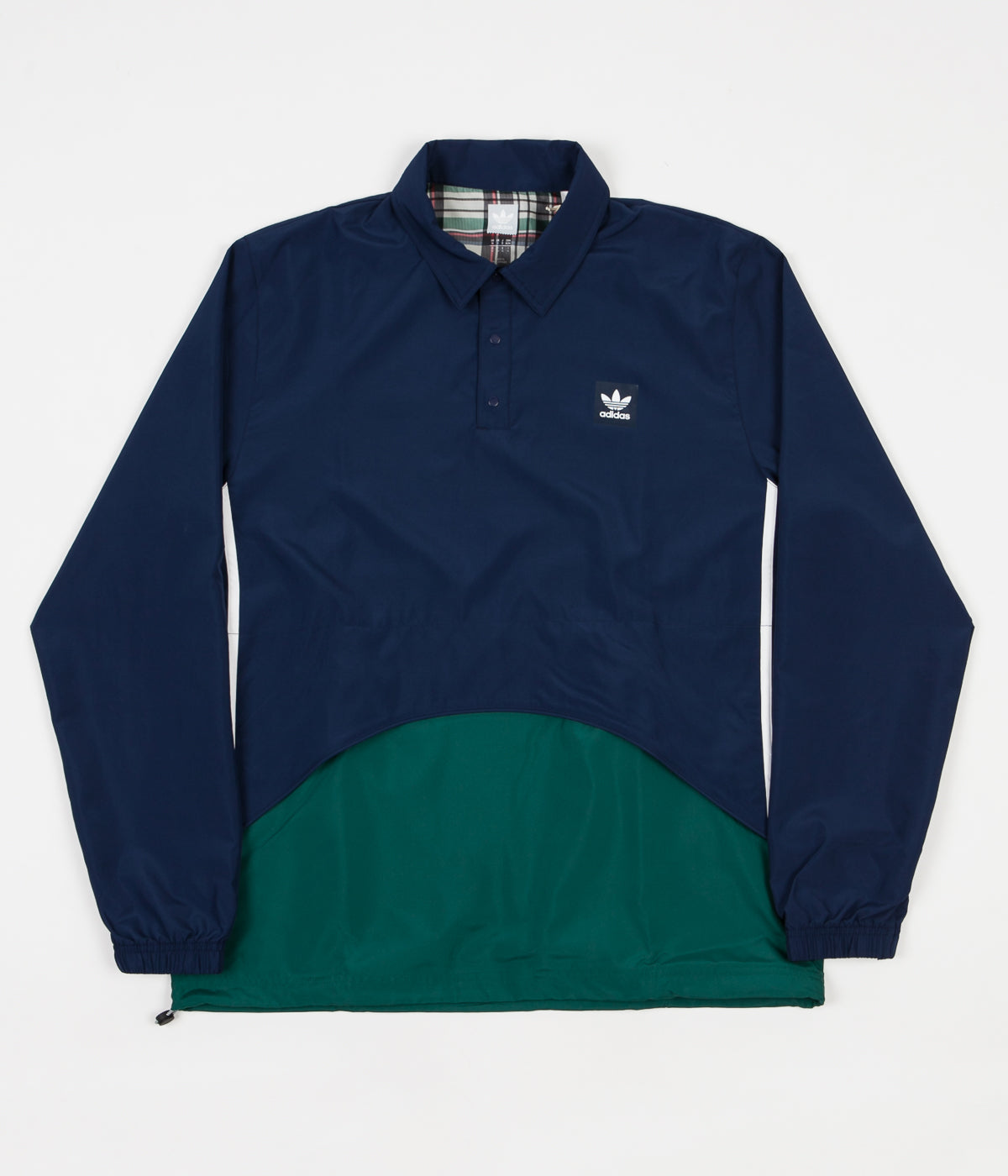 adidas pullover coach jacket night indigo collegiate green flatspot. Black Bedroom Furniture Sets. Home Design Ideas