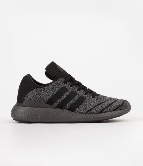 Adidas Pure Boost PK Shoes - Solid Grey / Core Black / Trace Grey Metallic