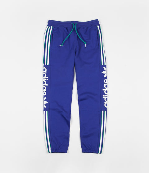 Adidas Quarzo Workshop Sweatpants - Active Blue / White / Active Green