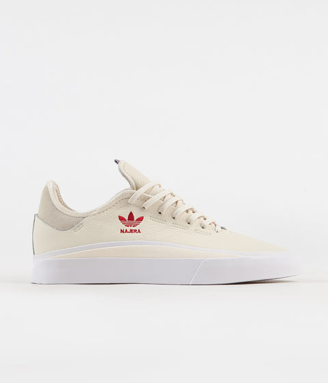 Adidas Sabalo 'Diego Najera' Shoes - Cream White / White / Power Red