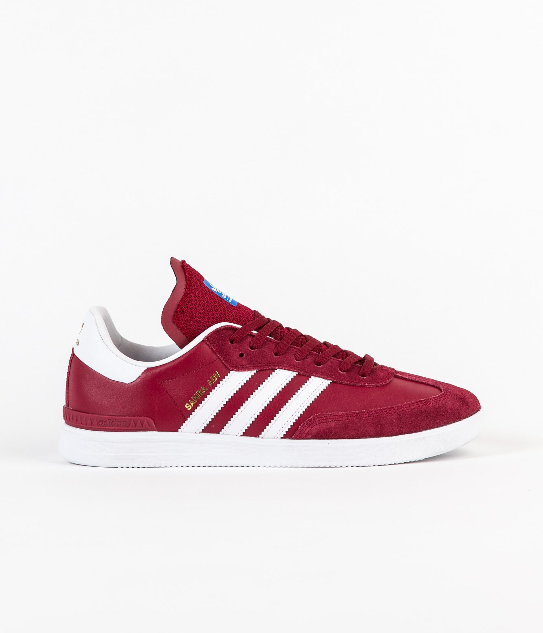 Adidas Samba Adv Shoes - Collegiate Burgundy / White / Bluebird