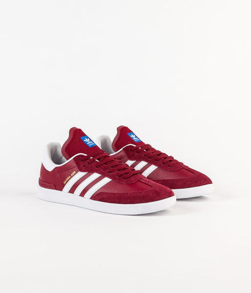 adidas samba adv shoes collegiate burgundy white. Black Bedroom Furniture Sets. Home Design Ideas