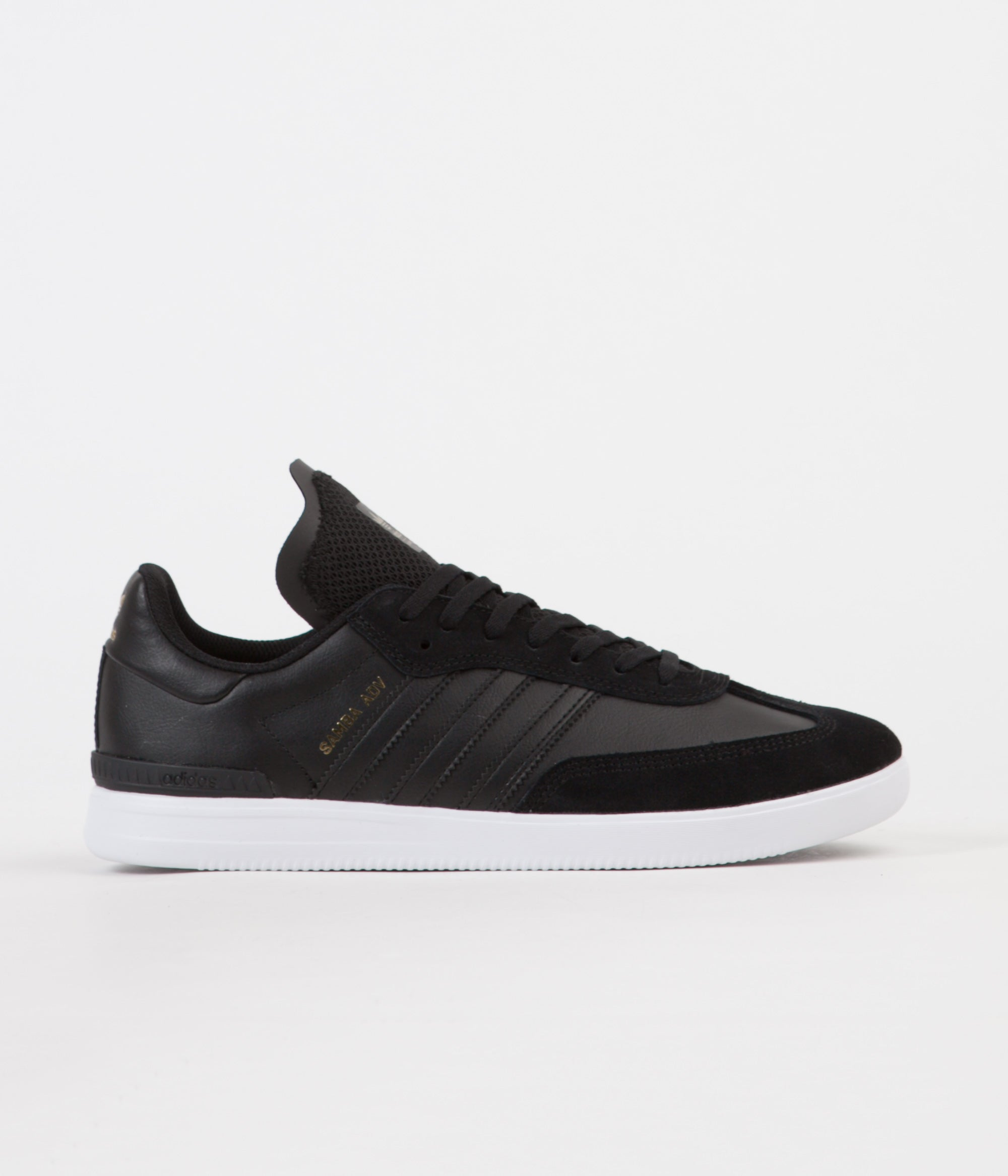 cheaper dfd23 a5f03 Adidas Samba ADV Shoes - Core Black  White  Gold Metallic