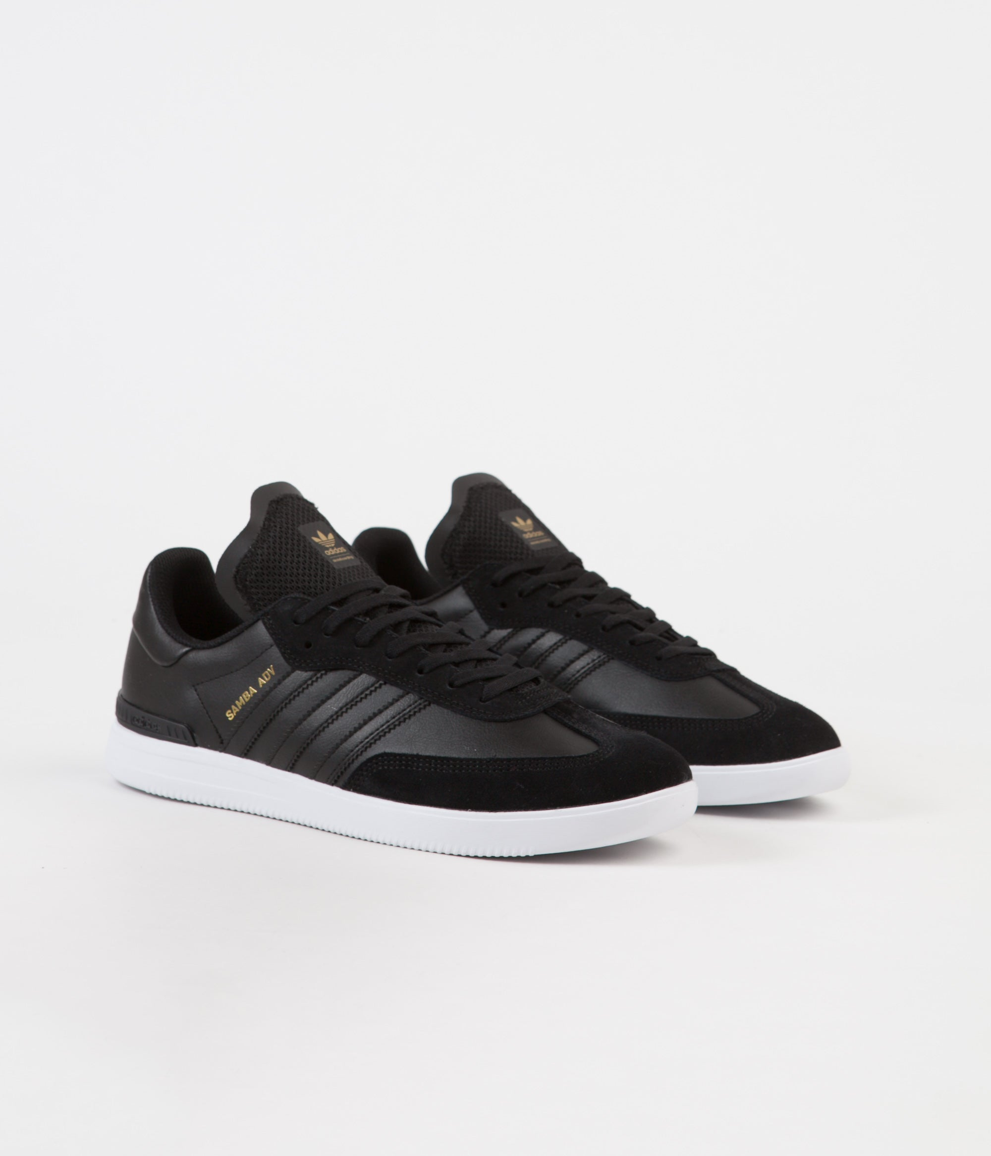 save off 44a31 f162e ... Adidas Samba ADV Shoes - Core Black  White  Gold Metallic ...