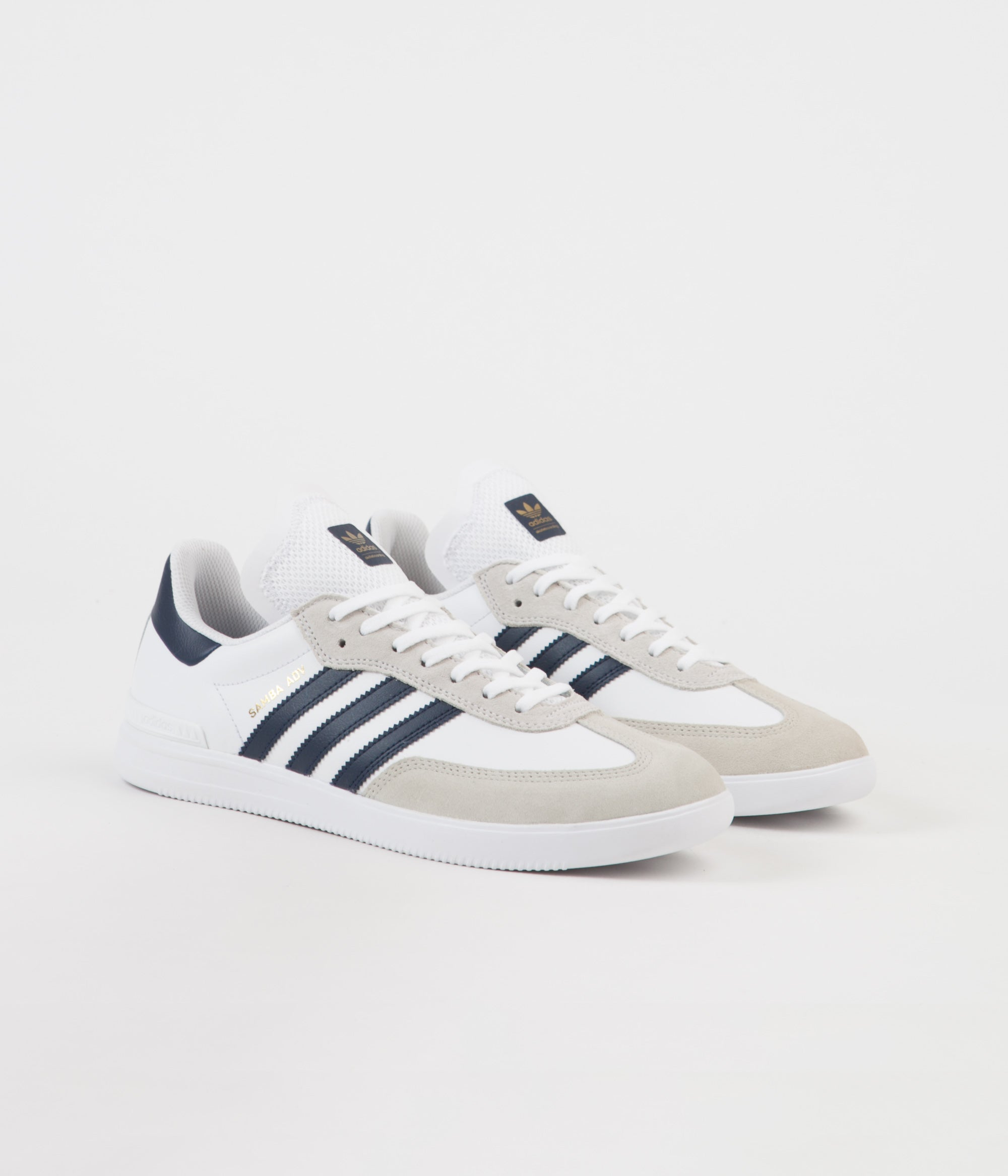release date: 8d1dd 084d0 ... top quality adidas samba adv shoes white collegiate navy gold metallic  e5288 5281d