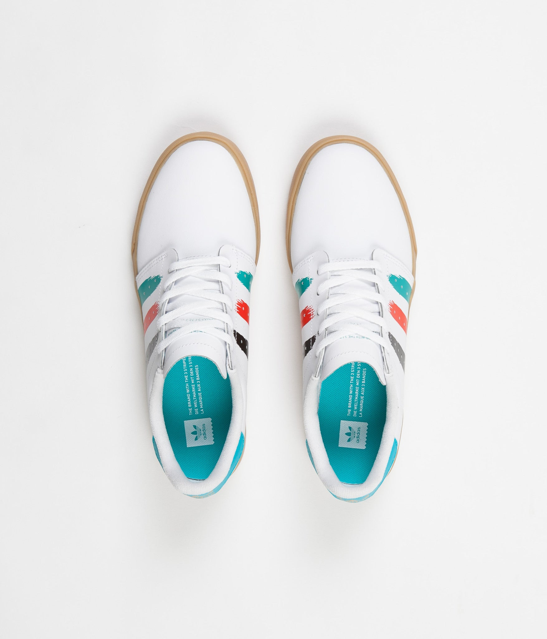 Adidas Seeley Court Shoes - White / Energy Blue / Energy