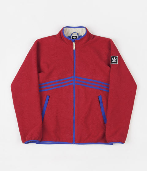 Adidas Sherpa Full Zip Jacket - Power Red / Hi-Res Blue / Haze Yellow