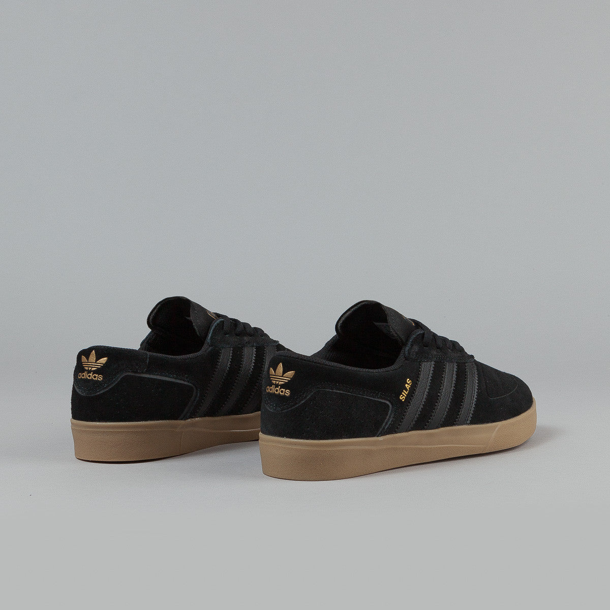 Adidas Silas Vulc ADV Shoes - Core Black / Core Black / Gold Metallic