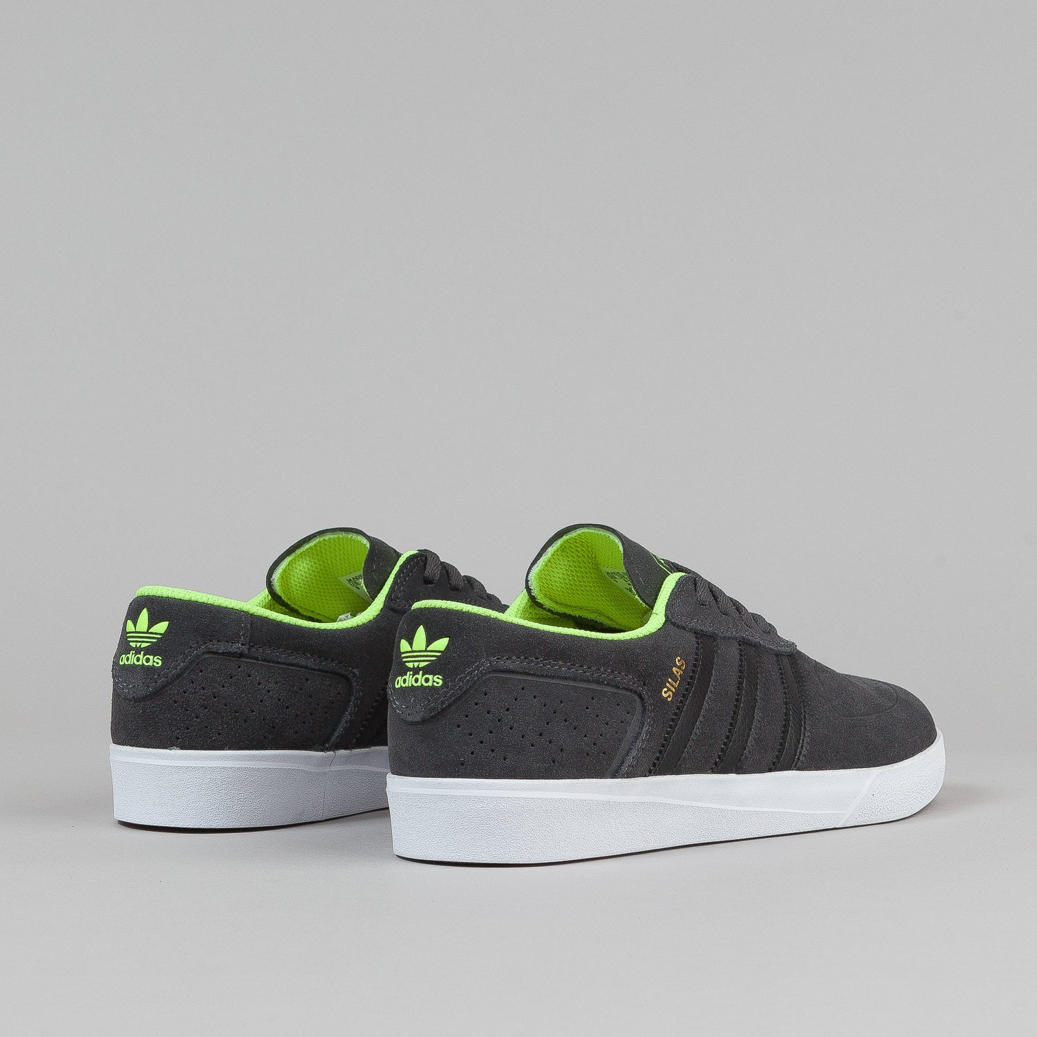 Adidas Silas Vulc ADV Shoes - Solid Grey / Black / Solar Yellow