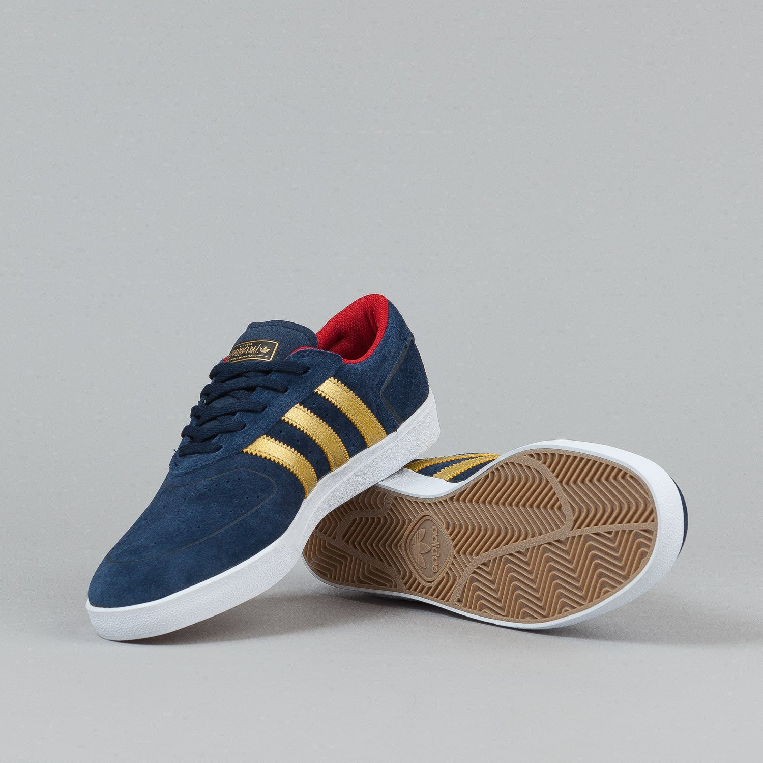 Adidas Silas Vulc Shoes - Collegiate Navy / Gold Metallic / Scarlet