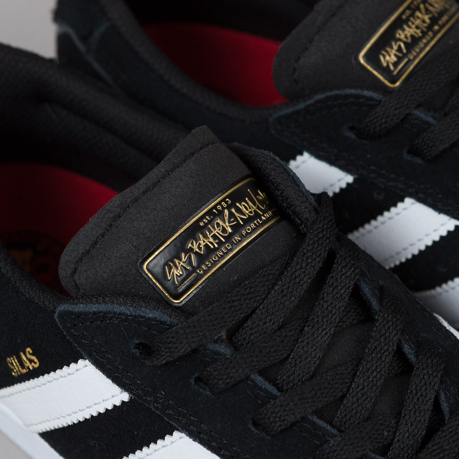 Adidas Silas Vulc Shoes - Core Black / White / Power Red