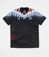 Adidas Silvas Jersey - Black / White / Clear Blue / Scarlet
