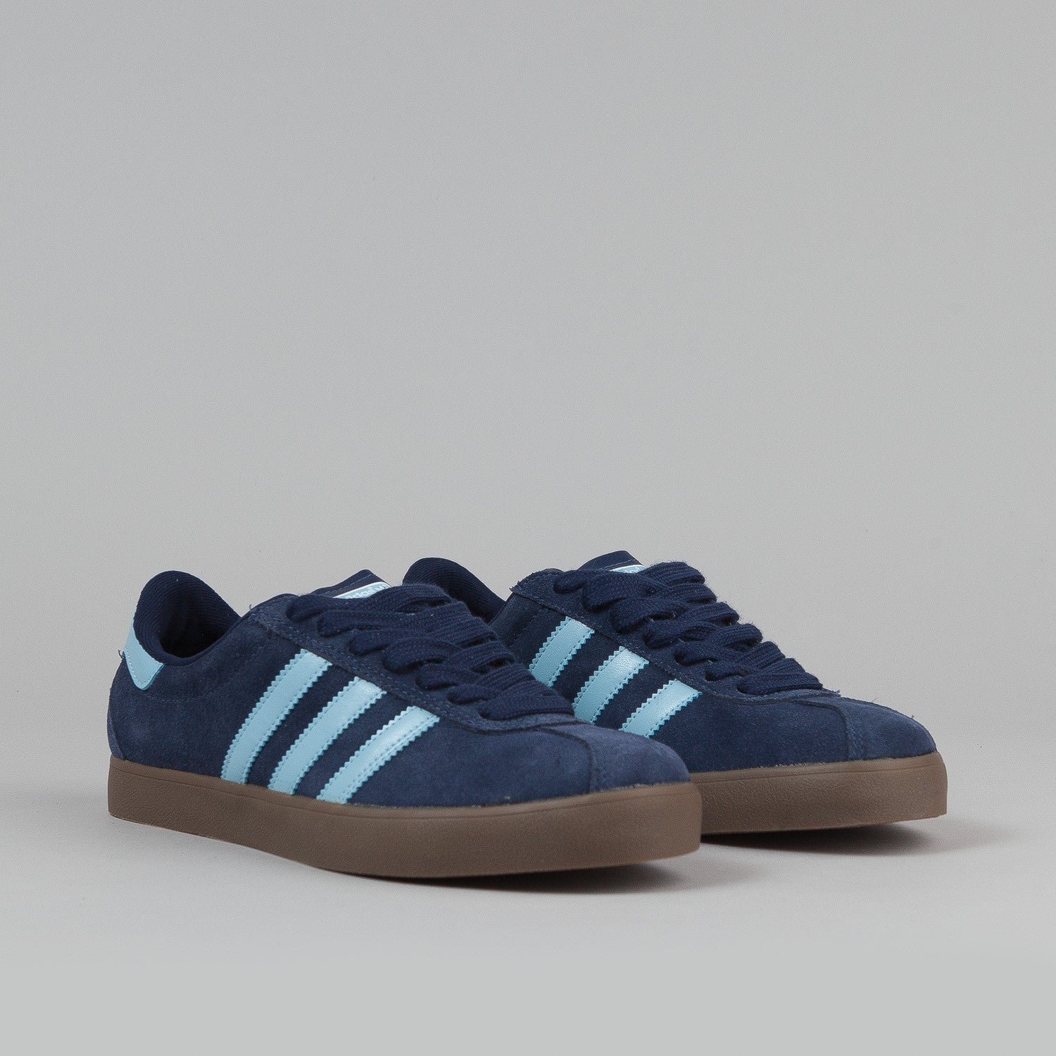 Adidas Skate Shoes - Dark Navy Slate / Argentina Blue / Gum 5