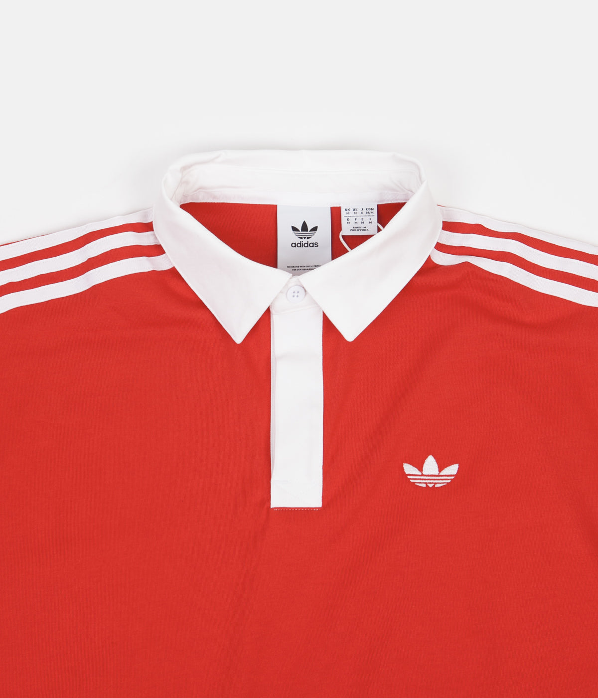Adidas Solid Rugby Shirt - Vivid Red / White   Flatspot