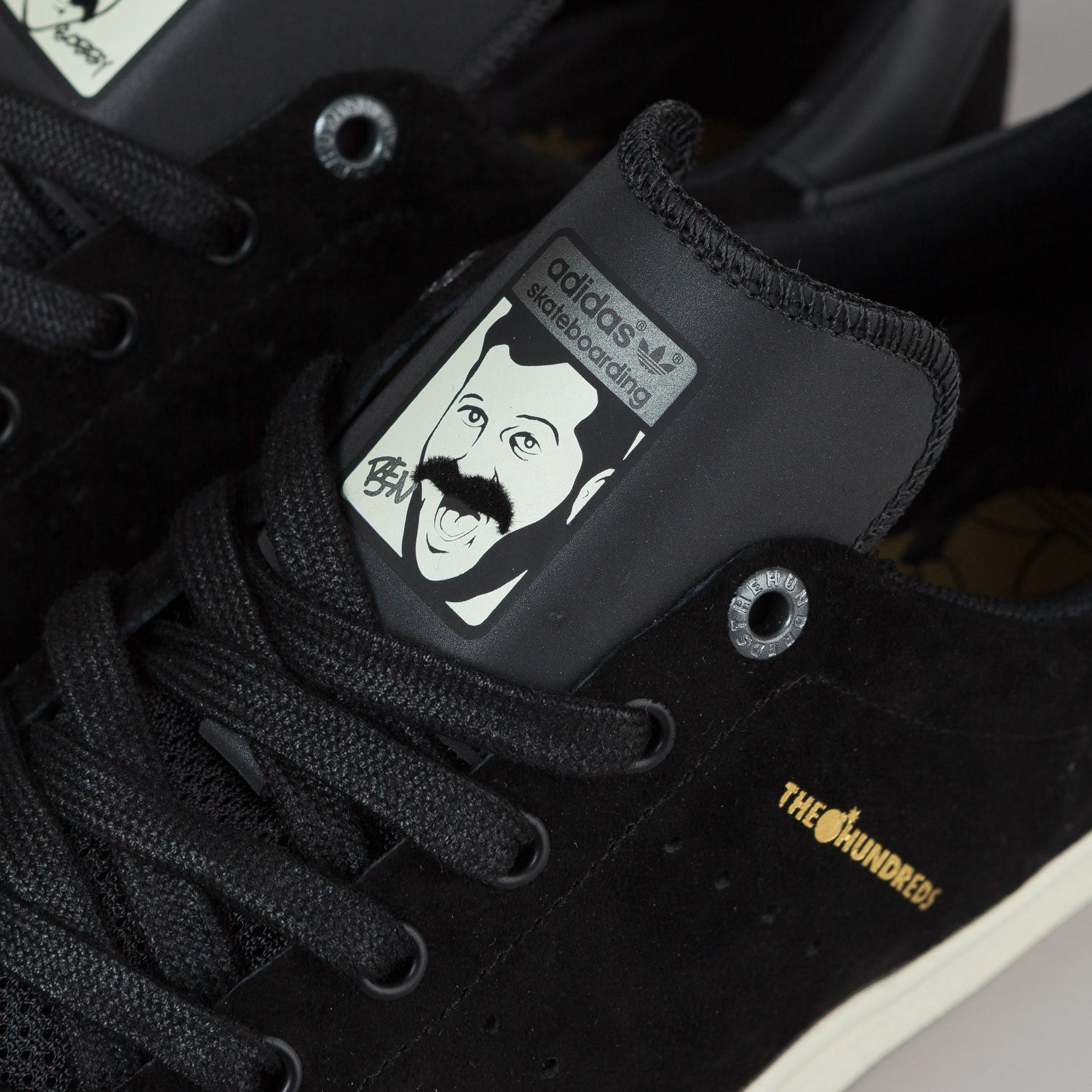 Adidas X The Hundreds Stan Smith Vulc Black Black White