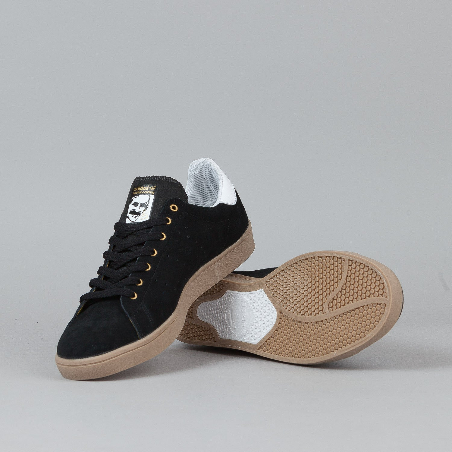 Adidas Stan Smith Vulc Shoes - Black / Black / White