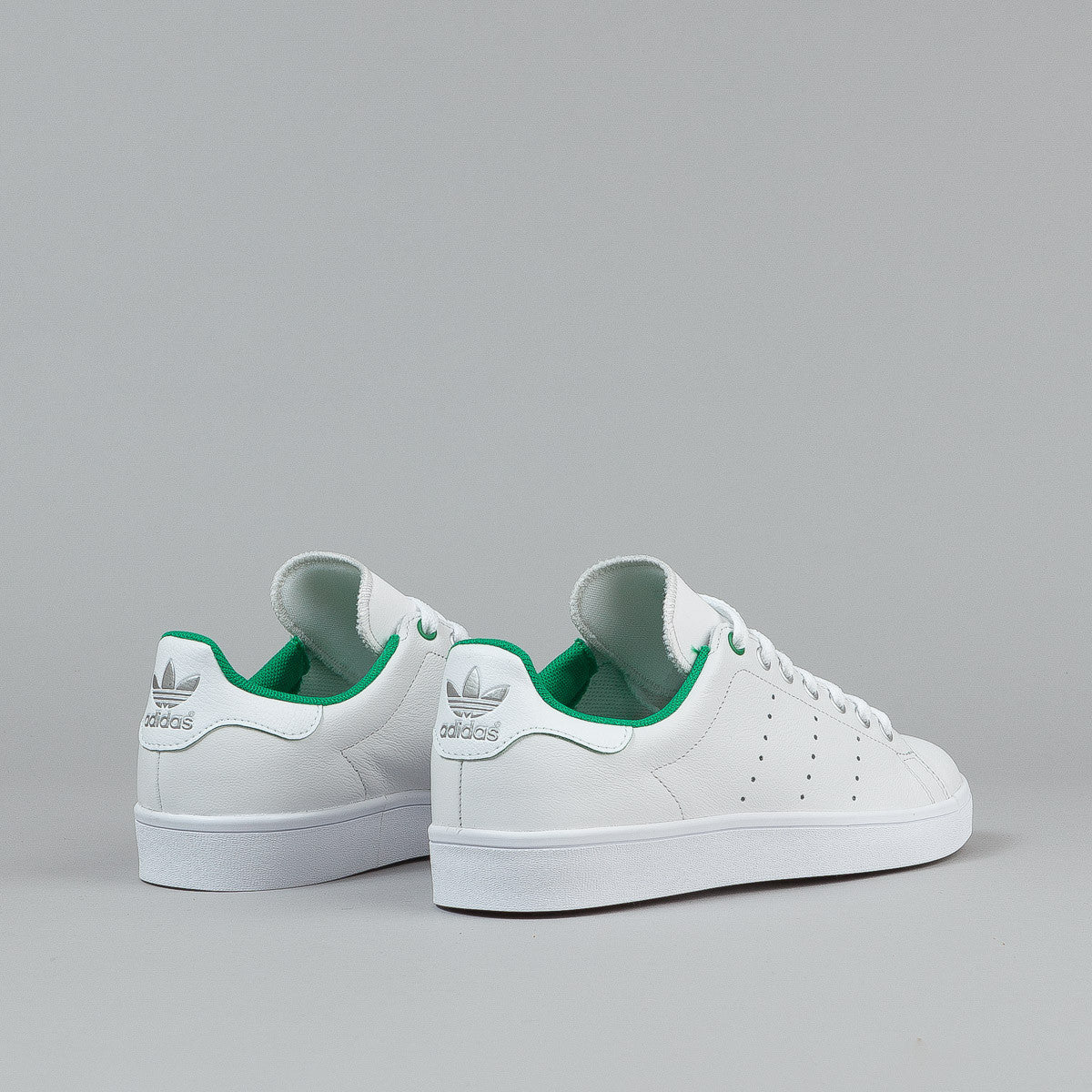 Adidas Stan Smith Vulc Shoes - Vintage White / Green / FTWR White