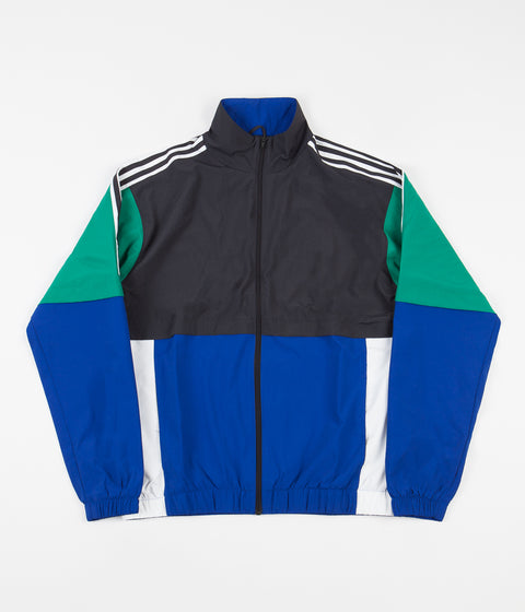 Adidas Standard 20 Jacket - Carbon / Collegiate Royal / Bold Green / White