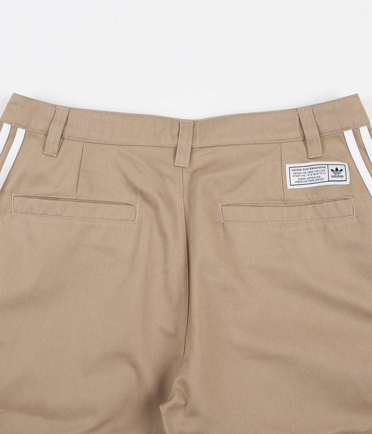 Adidas Striped Chino Pants - Hemp / White