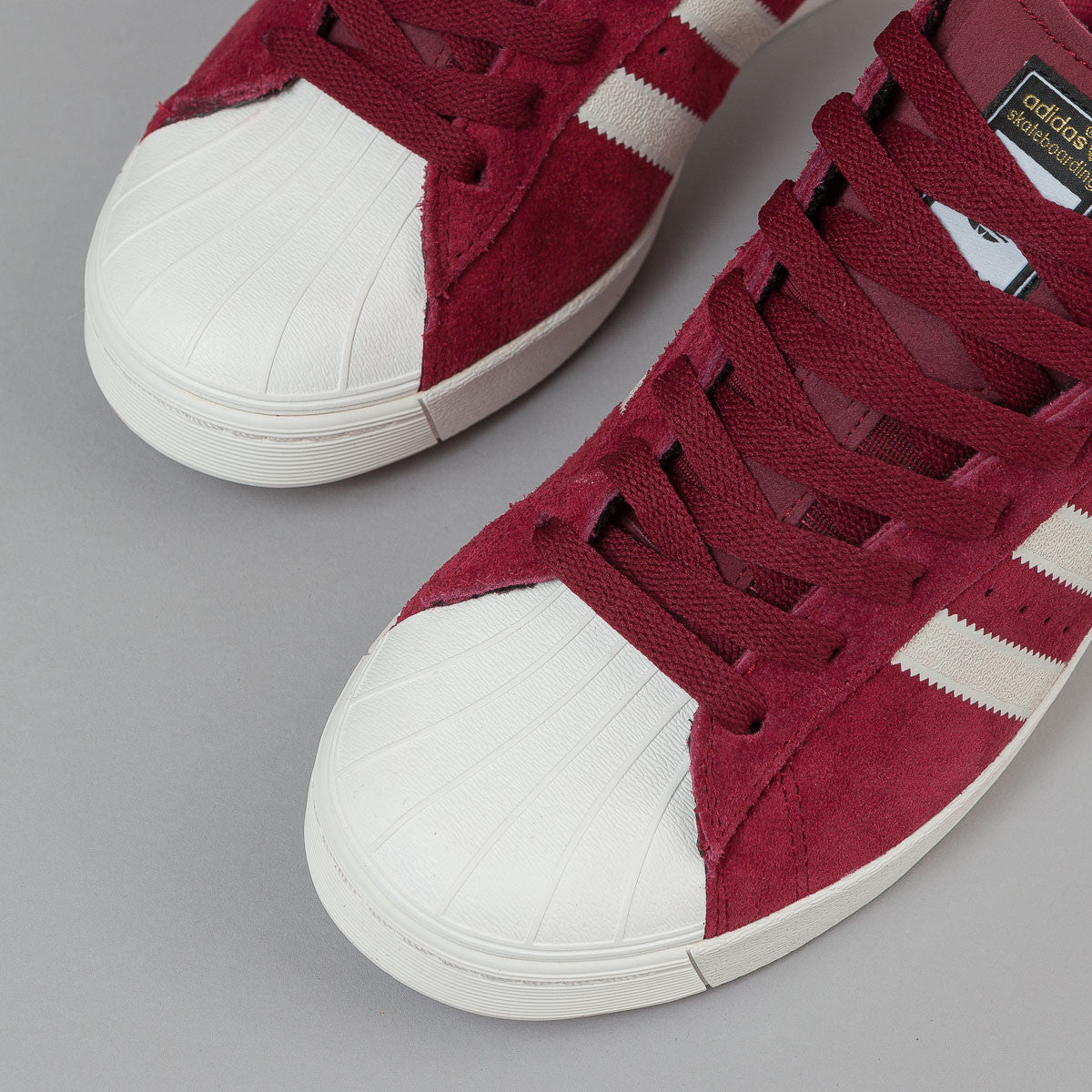 Adidas Superstar Vulc ADV Shoes - Collegiate Burgundy / Chalk White