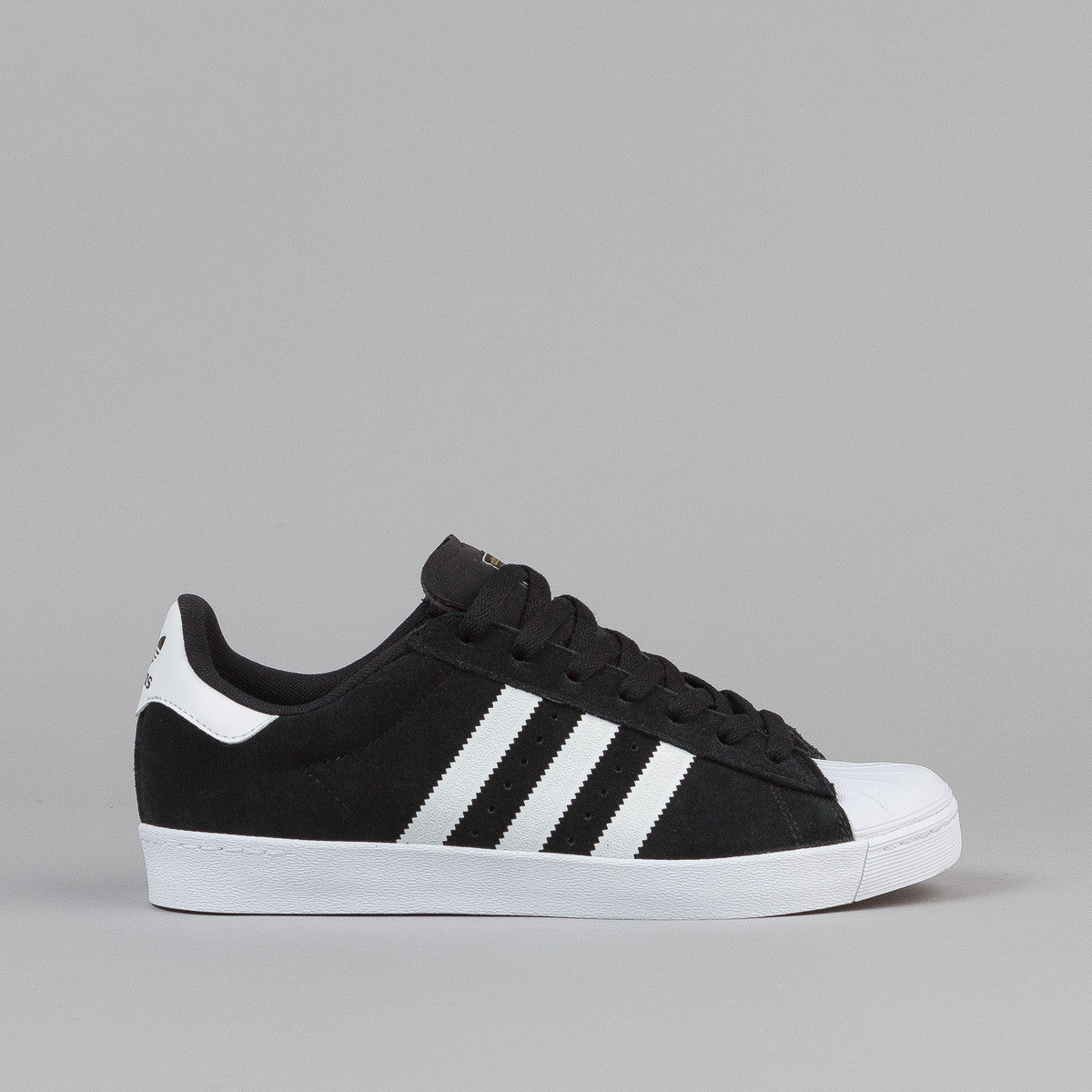 18a749c3e0f Cheap Adidas Superstar Vulc ADV Black Suede & White Shoes Men's Shoes