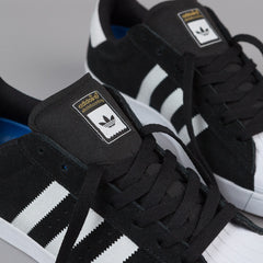 Adidas Superstar Vulc Adv Shoes - Core Black / FTWR White / Metallic Gold
