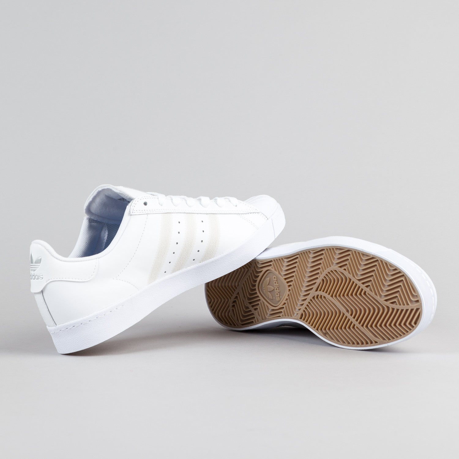 Adidas Superstar Vulc ADV Shoes - FTW White / FTW White / Silver Metallic