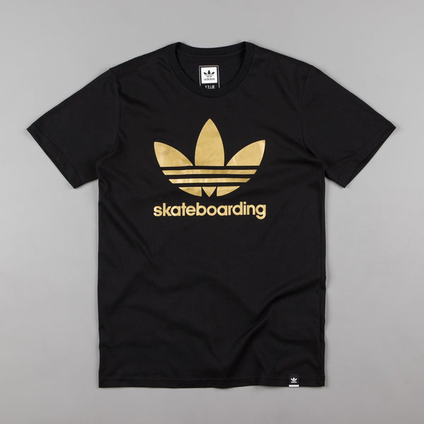 Adidas Clima 3.0 Solid T-Shirt - Black / Metallic Gold