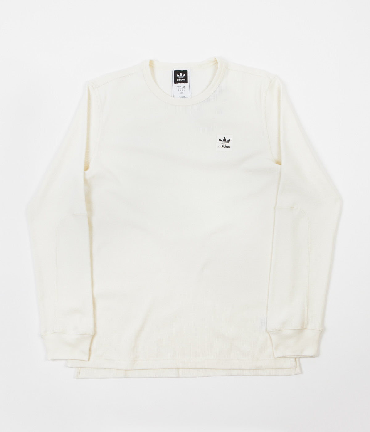 Adidas Thermal Long Sleeve T Shirt Off White Flatspot