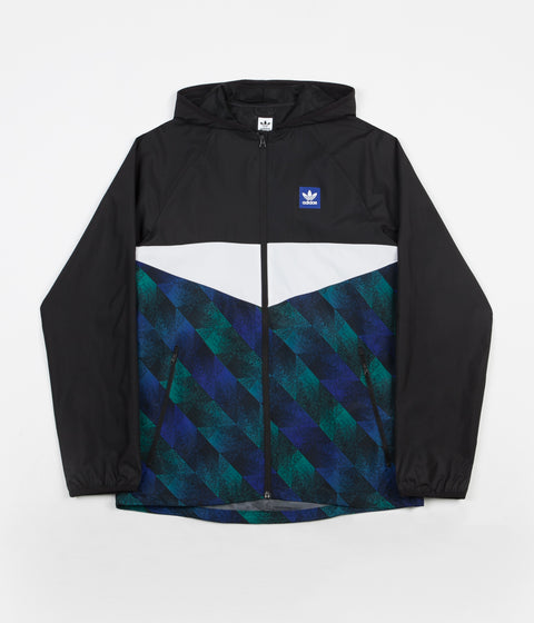 Adidas Towning Jacket - Black / White / Active Blue / Active Green