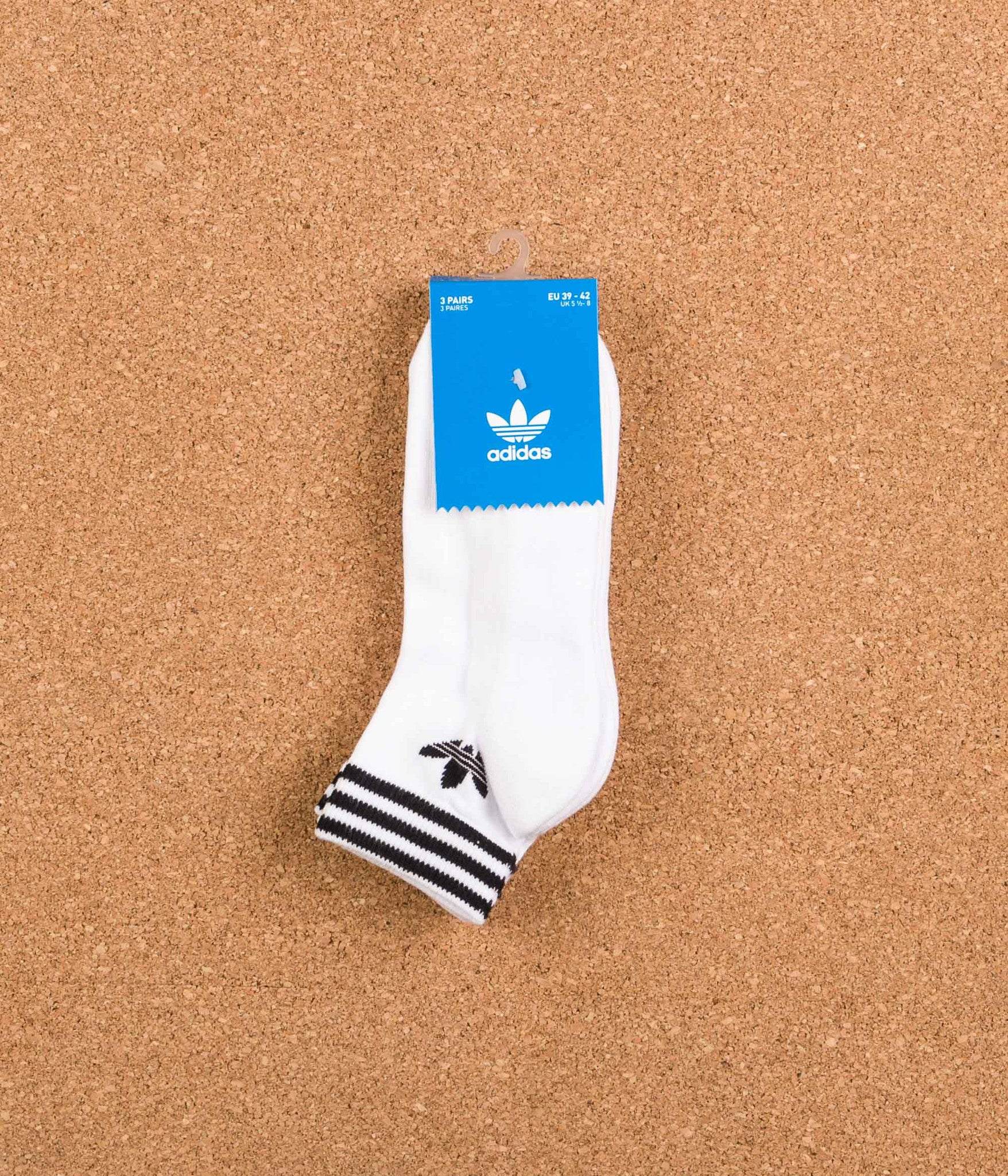 new arrivals best selling factory outlets Adidas Trefoil Ankle Socks - White
