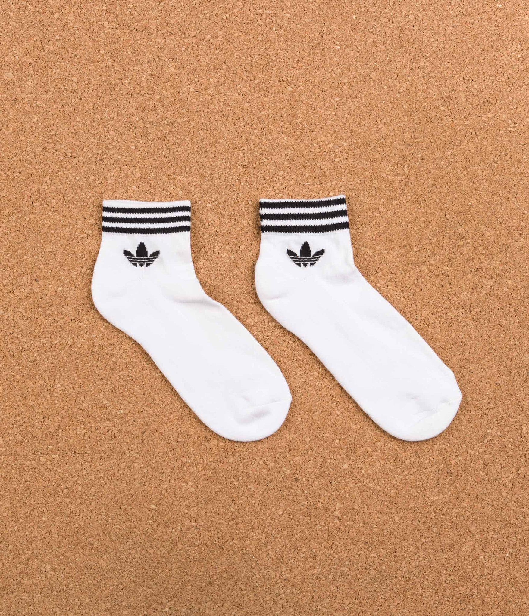 Adidas Trefoil Ankle Socks - White