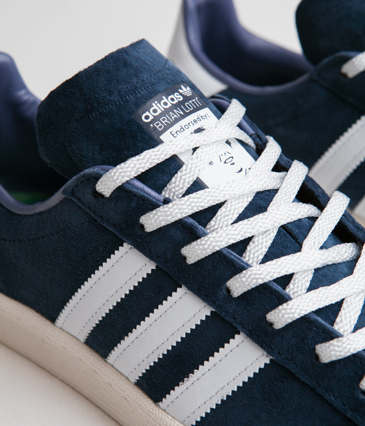Adidas x Brian Lotti Campus 80's 'Respect Your Roots' Shoes - Collegiate Navy / FTW White / Core White
