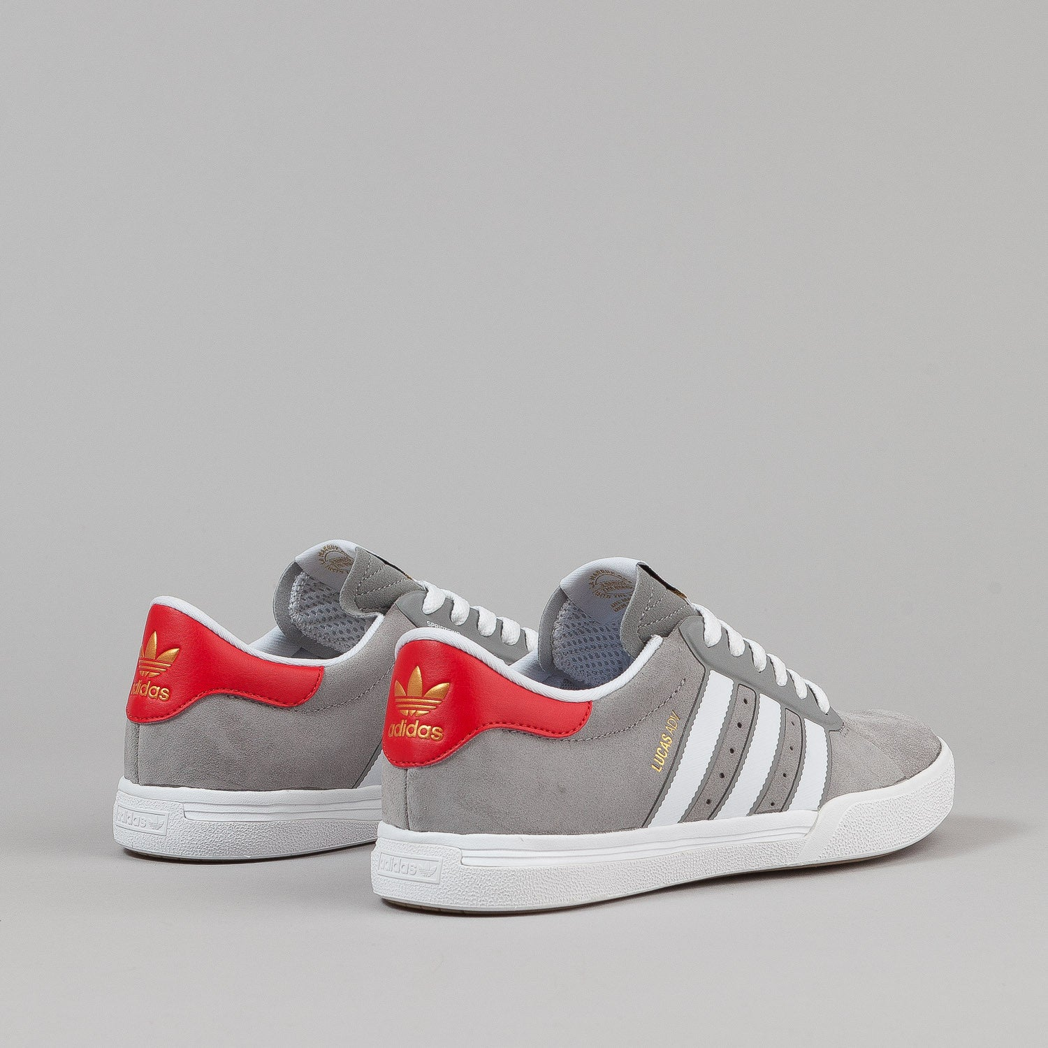 Adidas X Cliche Lucas ADV Shoes - Grey / White / Scarlet