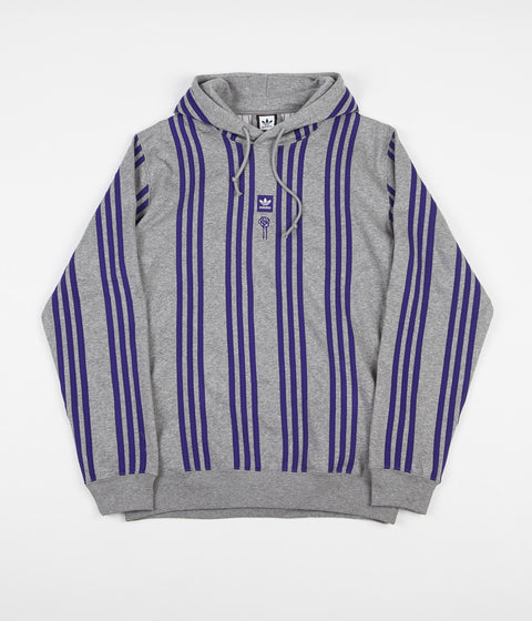 Adidas x Hardies Hoodie - Core Heather / Collegiate Purple