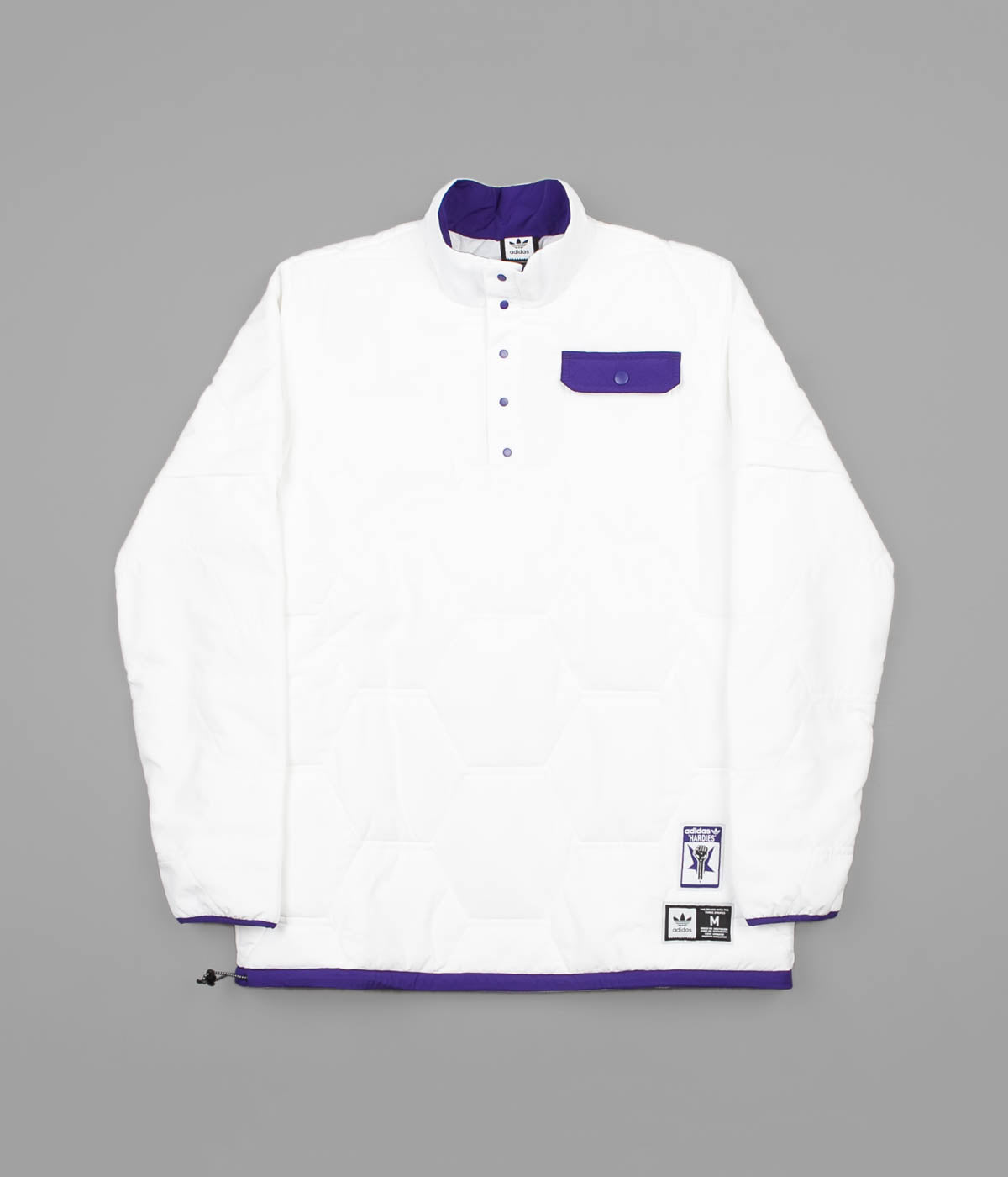 de64613b64 Adidas x Hardies Jacket - White / Collegiate Purple / Black | Flatspot