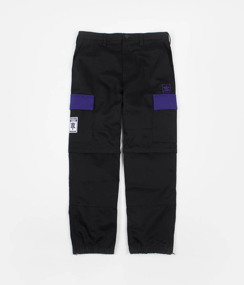 Adidas x Hardies Track Pants - Black / Collegiate Purple