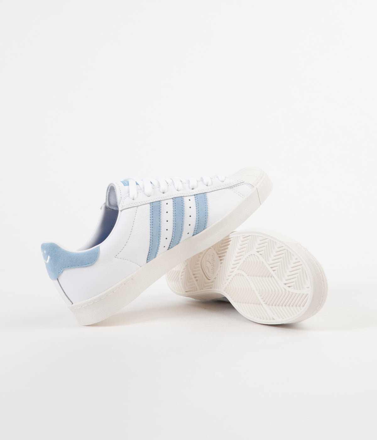 Adidas x Krooked Superstar Vulc Shoes - FTW White / Customised / Chalk White