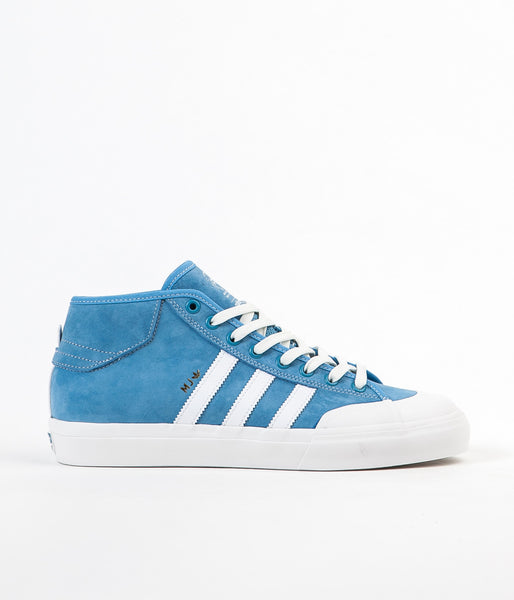 Adidas X Marc Johnson Matchcourt Mid Shoes - Light Blue / Neo White / Gold Metallic