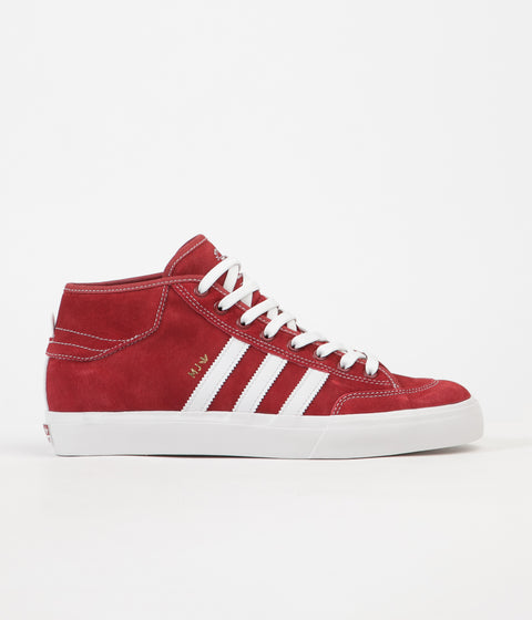 Adidas X Marc Johnson Matchcourt Mid Shoes - Mystery Red / White / Gold