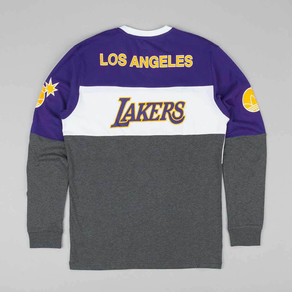 Adidas x NBA x The Hundreds LA Long Sleeve T-Shirt - Regal Purple / White / Dark Grey Heather