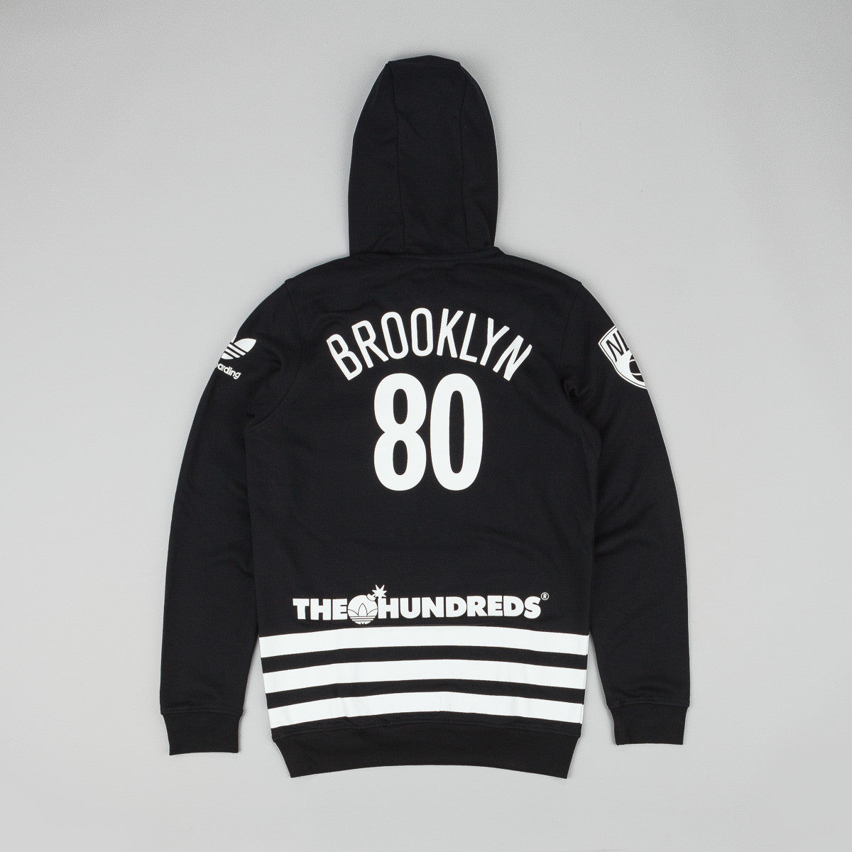 Adidas x NBA x The Hundreds NY Hooded Sweatshirt - Black