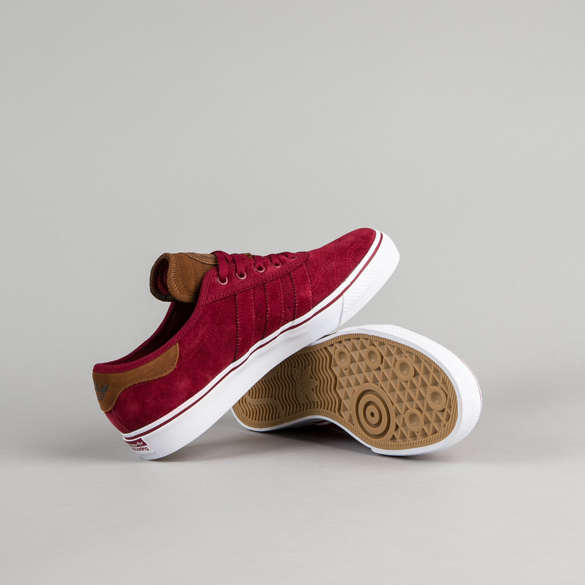 Adidas x Official Adi-Ease Premiere ADV Shoes - Collegiate Burgundy / St Bark / White