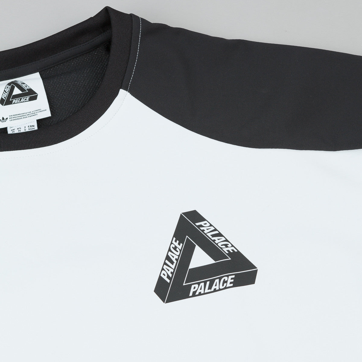 Adidas x Palace Crew Neck Sweatshirt - White / Multicolor / Black