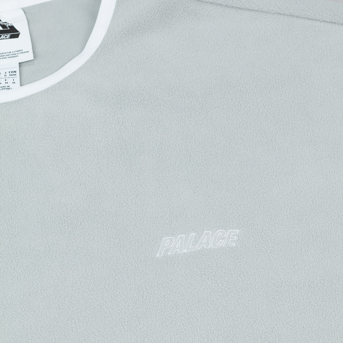 Adidas x Palace Fleece Crew Neck Sweatshirt - Grey