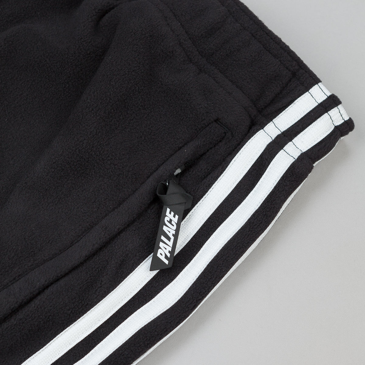 Adidas x Palace Fleece Sweatpants - Black / White